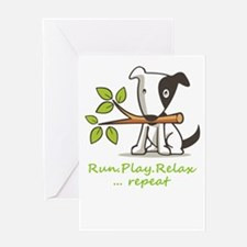 Run,play,relax,..repeat Greeting Cards