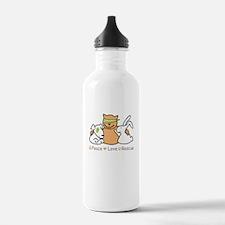 peace love rescue Water Bottle