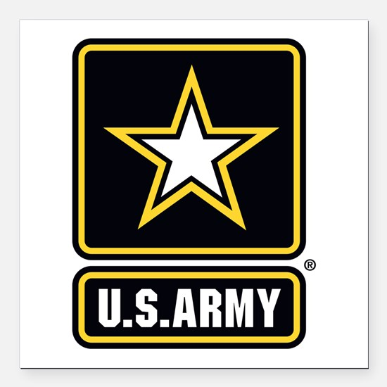 U.S. Army: U.S. Army Star Logo Square Car Magnet 3
