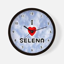 I Love Selena (Black) Valentine Wall Clock