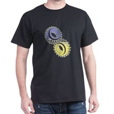 Cosmic Gears ~ T-Shirt (violet/yellow)