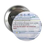 """The Geek Will Rule 2.25"""" Button (100 pack)"""