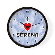 I Love Serena (Black) Valentine Wall Clock