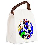 DG Birds Square TRANS.gif Canvas Lunch Bag
