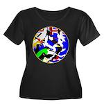 DG Birds Square TRANS.gif Plus Size T-Shirt