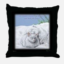 Excellent cool cat Throw Pillow