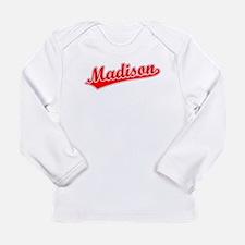 Retro Madison (Red) Long Sleeve T-Shirt