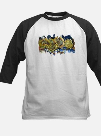 Four Cut Sunflowers by Van Gogh Baseball Jersey