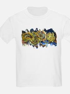 Four Cut Sunflowers by Van Gogh T-Shirt