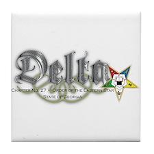 Delta Chapter Tile Coaster