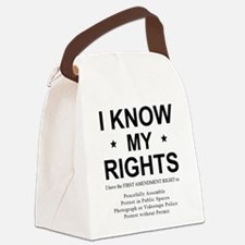 I KNOW MY RIGHTS BL Canvas Lunch Bag