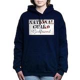 Army national guard girlfriend Hooded Sweatshirt