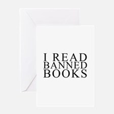 I READ BANNED BOOKS Greeting Cards