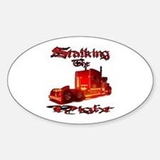 Stalking The Night Oval Decal