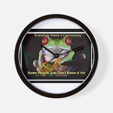 Colon Frog Lrg Wall Clock