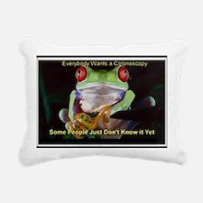 Colon Frog Lrg Rectangular Canvas Pillow