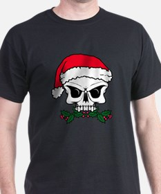 Christmas mistletoe skull T-Shirt