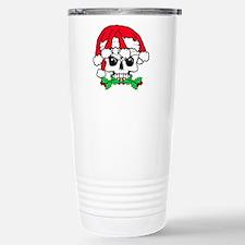 Dread head Santa skull. Stainless Steel Travel Mug