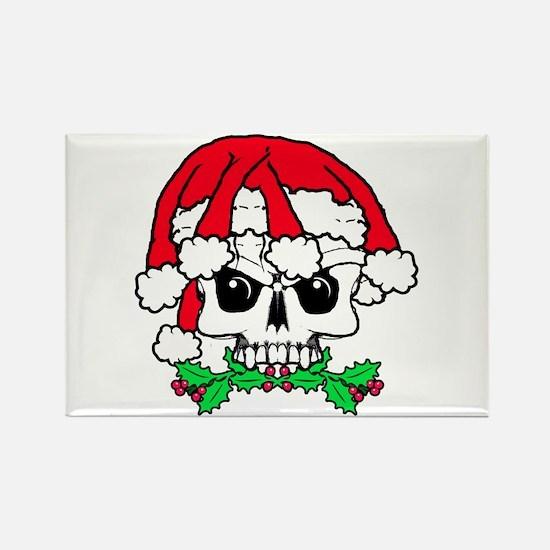 Dread head Santa skull. Rectangle Magnet