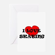 Unique Ice skating lover Greeting Card