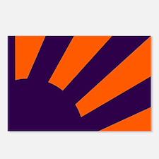 Orange and Purple Sunburs Postcards (Package of 8)