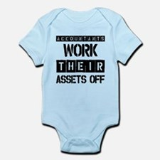 ACCOUNTANTS WORK THEIR ASSETS OFF Infant Bodysuit