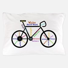 Bike made up of words to motivate Pillow Case