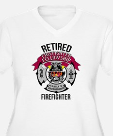 Retired Firefighter T Shirt Plus Size T-Shirt