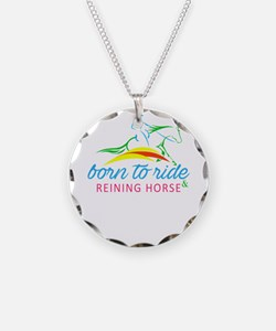 born to ride & reining h Necklace