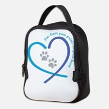 pets leave paw prints on your h Neoprene Lunch Bag