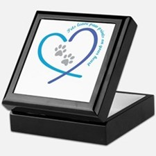 pets leave paw prints on your heart Keepsake Box
