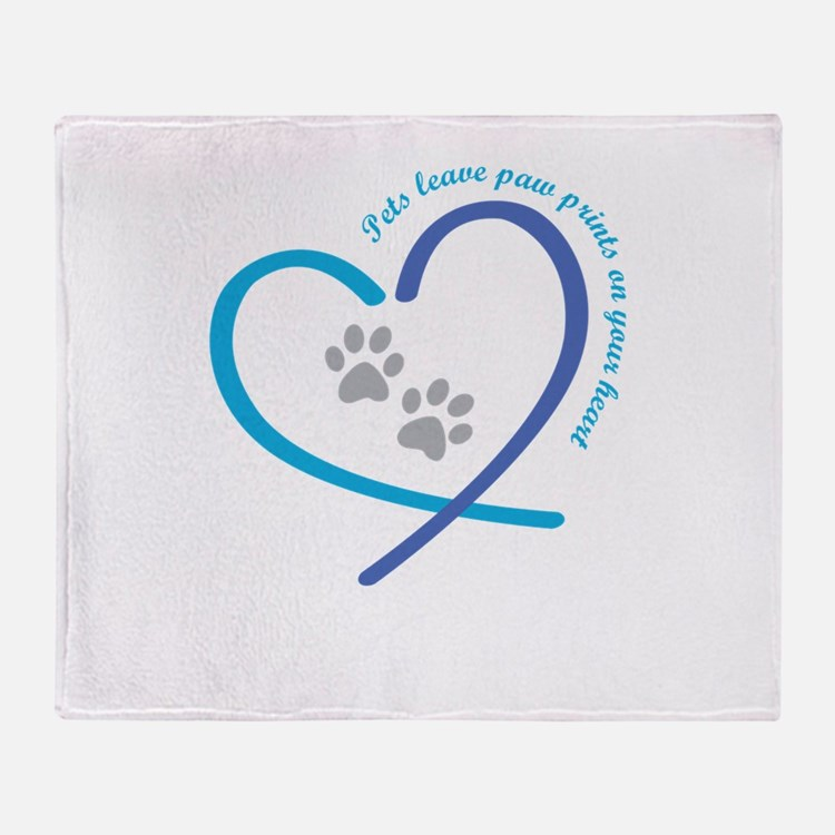 pets leave paw prints on your heart Throw Blanket