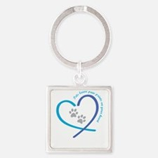 pets leave paw prints on your heart Keychains