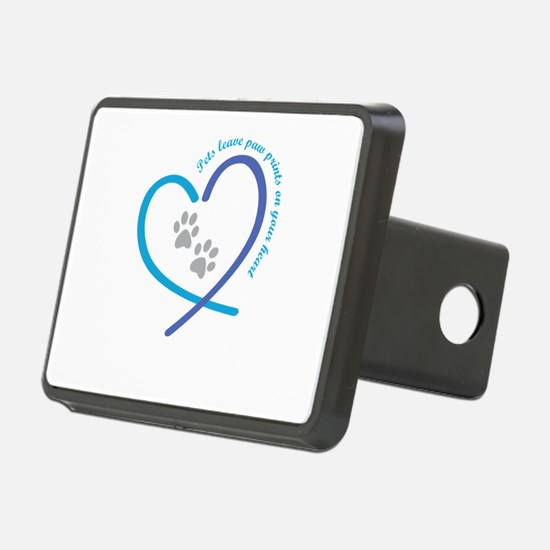 pets leave paw prints on y Rectangular Hitch Cover