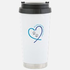 pets leave paw prints o Stainless Steel Travel Mug