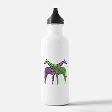 Bright Giraffes Water Bottle