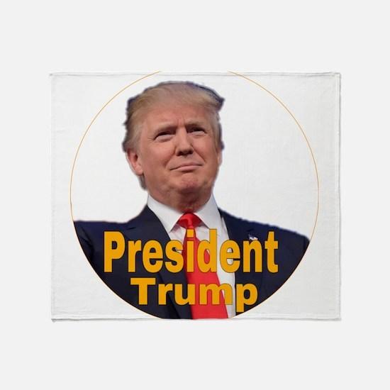 President Trump Throw Blanket