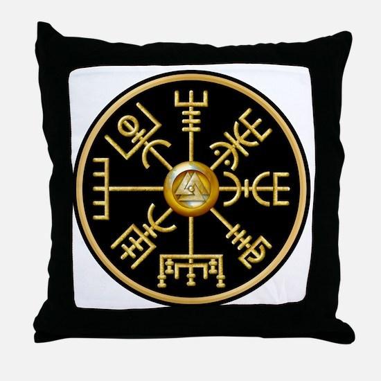 Cool Viking compass Throw Pillow