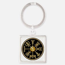 Funny Viking compass Square Keychain