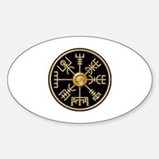 Cute Viking symbols Sticker (Oval)
