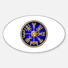 Funny Viking symbols Sticker (Oval)