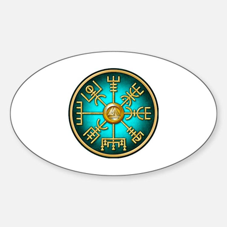 Cute Vegvisir Sticker (Oval)