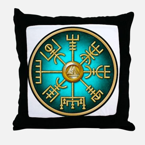 Cute Viking compass Throw Pillow