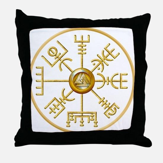 Funny Viking compass Throw Pillow