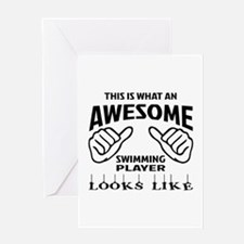 This is what an awesome Swimming pla Greeting Card