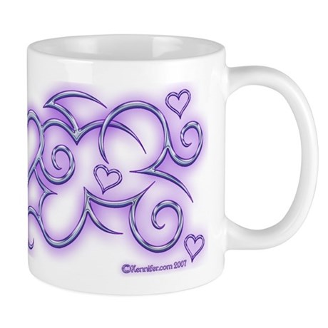 Purple Heart Swirl Xen Mug