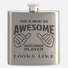 This is what an awesome Shuffleboard player Flask