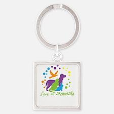 love all animals Keychains