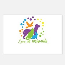 love all animals Postcards (Package of 8)