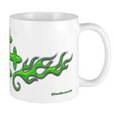 Green Cross Flame Xen Small Mug